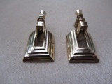 Vintage 1960s  NAPIER Screw Back Earrings in Gold Tone